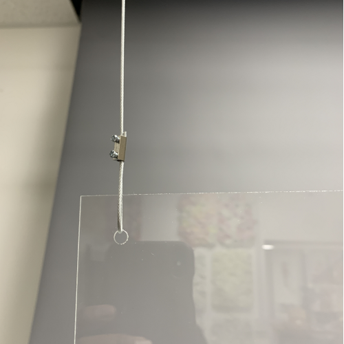 Hanging Sneeze Guard Clear Acrylic Screen